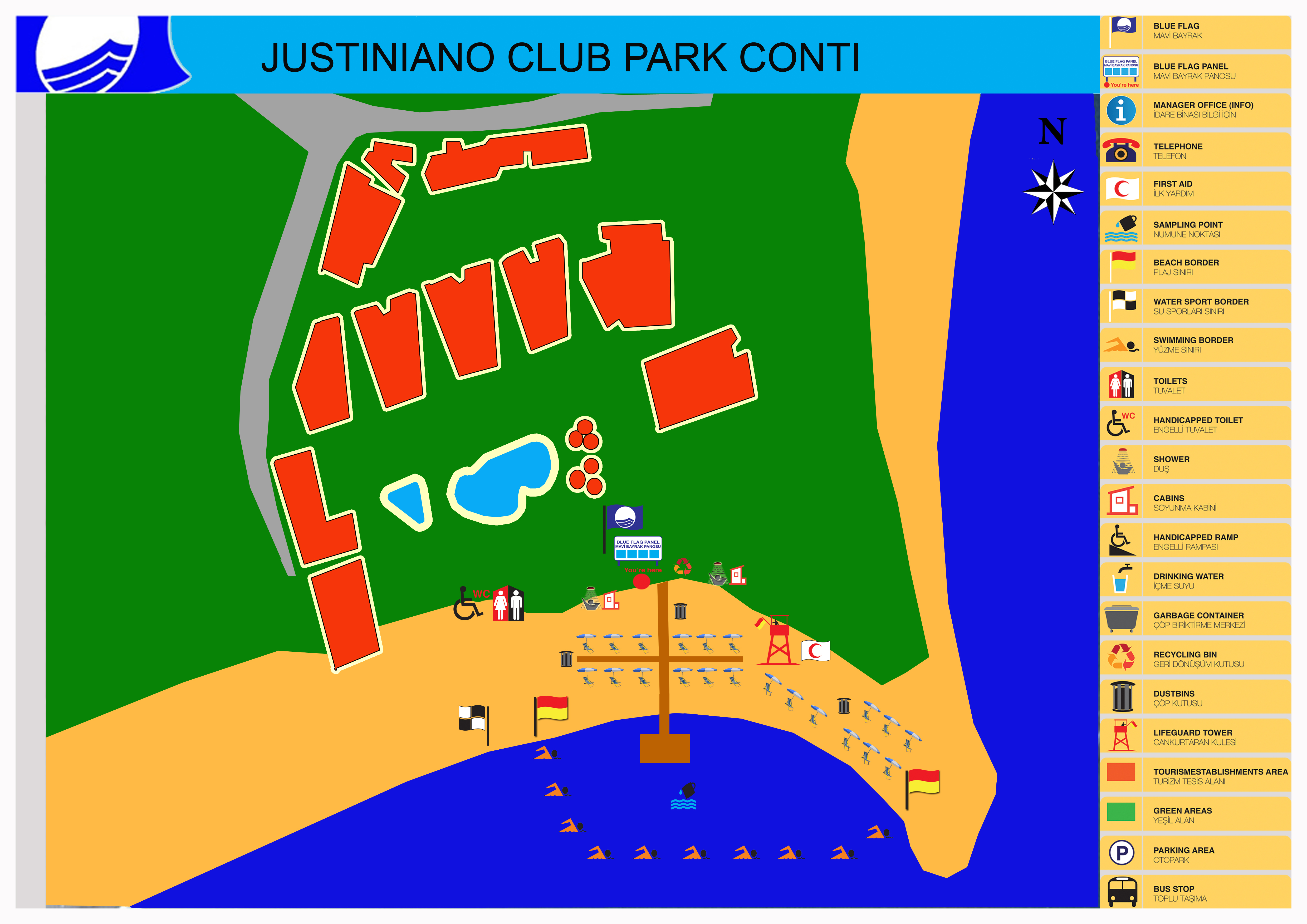 Justiniano Club Park Conti 5 ★★★★★ (Карта готелю)